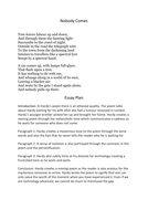 Protein Synthesis Essay English Igcse Thomas Hardy Poem Nobody Comes Essay Plan From Thesis To Essay Writing also Essay About Science And Technology English Igcse Thomas Hardy Poem Nobody Comes Essay Plan By  Compare And Contrast Essay Sample Paper