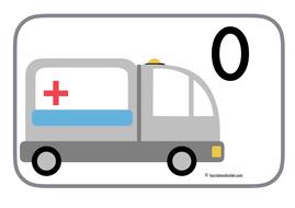 Ambulance Emergency Vehicle Number Line 0-20