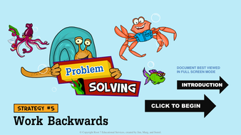 Math Problem Solving Strategies - Work Backwards