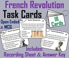 French Revolution Task Cards