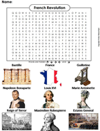 French Revolution Word Search