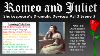 dramatic techniques in romeo and juliet