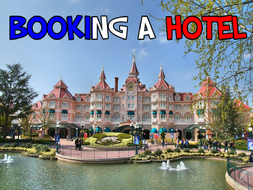 Booking a hotel room - Presentation and activities.