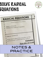 Solve Radical Equations Interactive Notebook By Docrunning