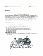 Algebra 1: Angry Birds Graphing Project- Students LOVE THIS!