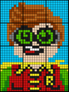 Colouring by Ratio Applications, Lego Robin (12 Sheet Collaborative Math Mosaic)