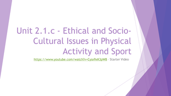 2.1.c---Ethical-and-Socio-Cultural-Issues-in-Physical-Activity-and-Sport---Powerpoint.pptx