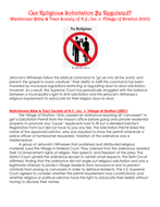 Can Religious Solicitation Be Regulated? Watchtower Bible & Tract Society of N.Y., Inc. v. Village .