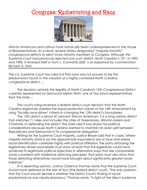 Congress: Redistricting and Race