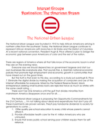 Interest Groups Destination: The American Dream   The National Urban League Worksheet