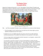 The Magna Carta Analysis Skills Worksheet