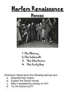1920's Harlem Renaissance- the Dance Movement