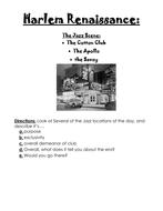 1920's Harlem Renaissance- Jazz Scene and Jazz Locations