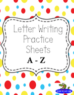 Handwriting - Letter Writing Practice Sheets - A to Z