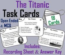 Titanic Task Cards