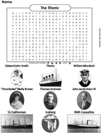 Titanic Word Search