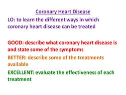 New AQA GCSE Biology - Coronary Heart Disease and Treatments