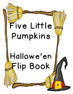 Five Little Pumpkins Emergent Reader Flipbook