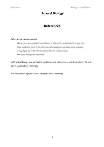 How to write references