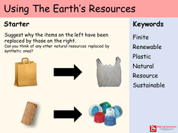 AQA Chapter 10 - Lesson 1 - Using the Earth's Resources.pptx
