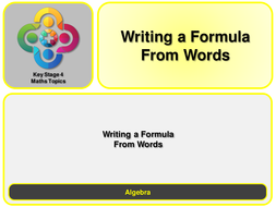 A--Writing-a-Formula-from-Words.pptx