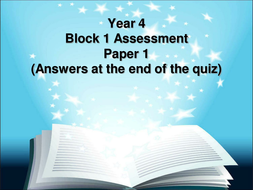 Year-4-Block-1-Paper-1-Answers-at-the-end.ppt