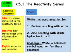 Aqa gcse c51 the reactivity series by teachallscience teaching c51 the reactivity seriespptx urtaz Images