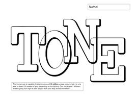 Tone Worksheets - teach drawing skills by MrMcGuffie - Teaching ...
