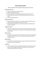 checklist for personal statement