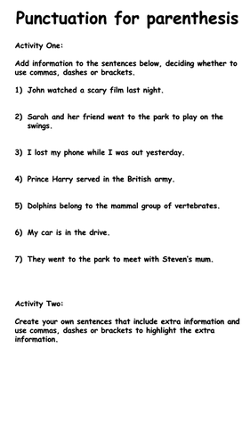 Using Commas Correctly Ks2 Worksheet - Kidz Activities