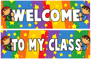 Classroom Decoration Kids Welcome Banner And Borders By Makutono