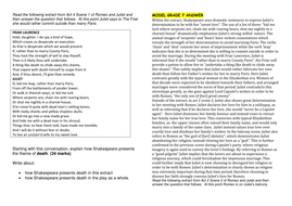 Romeo And Juliet Grade  And Grade  Model Responses To Aqa Gcse   Romeoandjulietmodelessayswithexam