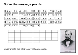 Solve the message puzzle from Louis Pasteur by sfy773 - Teaching ...