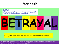 examples of betrayal in macbeth