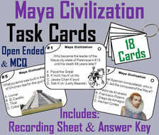 Maya Civilization Task Cards