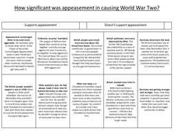 how significant was appeasement in causing world war two by msca teaching resources tes. Black Bedroom Furniture Sets. Home Design Ideas