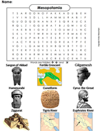 Mesopotamia Word Search