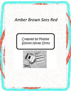 Amber Brown Sees Red Novel Unit