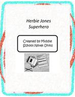 Herbie Jones Superhero Book Unit