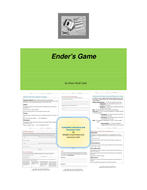 Enders Game Novel Unit
