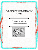 Amber Brown Wants Extra Credit Novel Unit