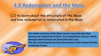 New AQA RE GCSE Unit 4 Redemption and Mass lesson