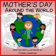 Mother's Day Around the World Literacy Activities Growing Endless Bundle