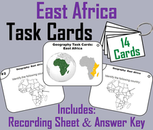 East Africa Task Cards