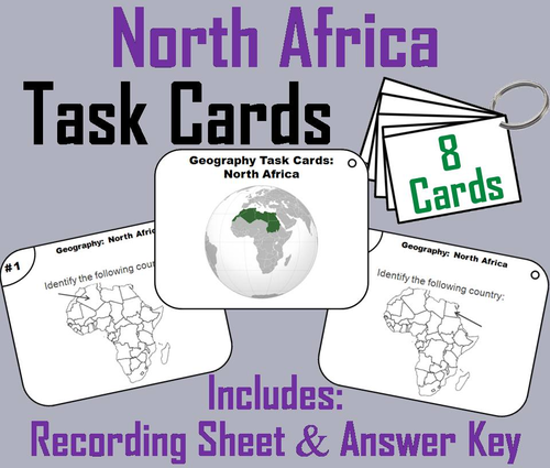 North Africa Task Cards