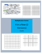 Multiplication Single Digit Four in a Row Games 2 Versions