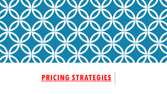 Pricing strategies for Economics A level