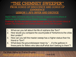 The Chimney Sweeper William Blake Innocence And Experience Ks3 Romantic Victorian Poetry