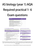 NEW SPEC required practical exam questions workbook AS biology (A level year 1)
