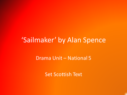 'Sailmaker' by Alan Spence